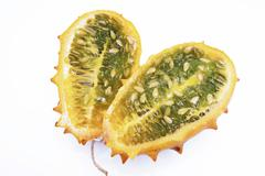 Stock Photo of kiwano, cut-out, white background