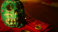 Dia de Muertos day of the dead Stock Footage