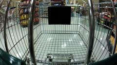 Shopping Cart GOpro Stock Footage