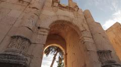Jordan Jerash arches Stock Footage