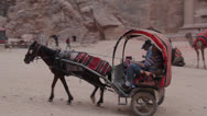 Stock Video Footage of Petra Treasury Jordan Israel horse and cart