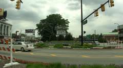 SMALL TOWN TRAFFIC CIRCLE Stock Footage