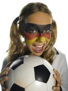 Stock Photo of German female soccer fan