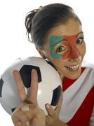 Portuguese soccer fan Stock Photos