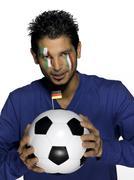 Male italian soccer fan - stock photo