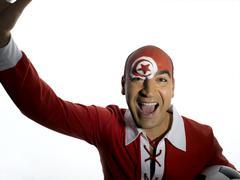 Stock Photo of Male tunesian soccer fan