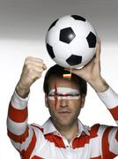 Male soccer fan from Great Britain Stock Photos