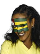 Female soccer fan from Togo, smiling Stock Photos