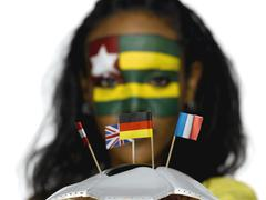 Female soccer fan from Togo Stock Photos