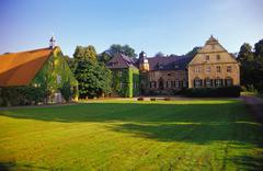 Estate Gut Ostenwalde in Oldendorf, Osnabruecker land, Northern Germany - stock photo