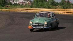 Vintage cars Renault Fregate Mercedes 280 SE full HD quality 1080p Stock Footage