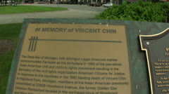 CS VINCENT CHIN MEMORIAL Stock Footage