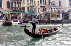 Italy, Venice, Canale grande, gondola Stock Photos