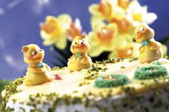 Easter torte, close-up Stock Photos