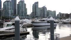 Vancouver Marina Stock Footage