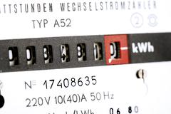 Electricity meter, close-up - stock photo