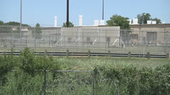 Texas prison medium shot Stock Footage