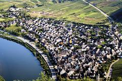 Germany, view to Bremm by Mosel river Stock Photos