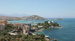 Kusadasi town, Turkey - stock footage