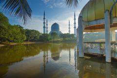 Shah Alam Mosque - stock photo