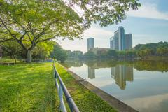 Shah Alam Lake Garden Malaysia - stock photo