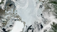 Stock Video Footage of Arctic - North Pole - Slow Zoom from space