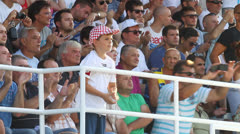 Soccer spectators Stock Footage