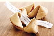 Fortune cookies, close-up Stock Photos
