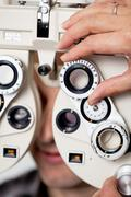 eyesight measurement - stock photo