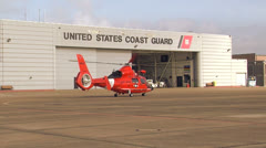Stock Video Footage of Helicopter Coast Guard 01