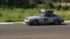 Autosport fabulous car Porsche 911 ヨ winner of various rally - stock footage