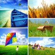 Summer collage Stock Photos