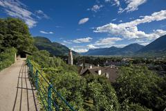 Stock Photo of Italy, South Tyrol, Meran, Cityscape