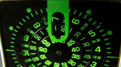 Clock face macro watch Stock Footage
