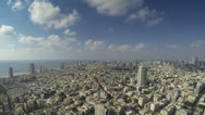 Stock Video Footage of Tel Aviv city wide angle time lapse cloudscape