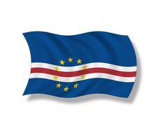Illustration, Flag of Cape Verde Stock Illustration