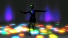 Dancing girl animation Stock Footage