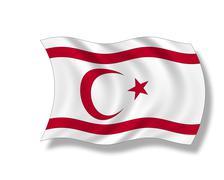 Illustration, Flag of Republic of Northern Cyprus Stock Illustration