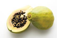 Pawpaw fruits, close-up - stock photo