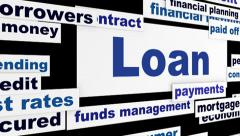 Loan creative banking hd animation Stock Footage