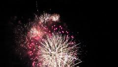 Fireworks grand finale Stock Footage