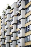 Germany, Berlin, Friedrichstrasse, Block of flats Stock Photos