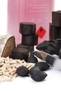 Assortment of Combustibles, close-up - stock photo