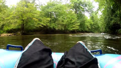 Sycamore Flats, NC tubing Stock Footage