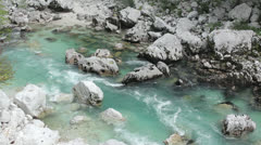 Soča river - stock footage