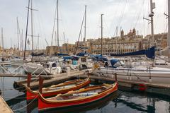 view from the vittoriosa - stock photo
