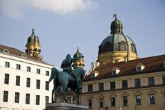 Germany, Bavaria, Munich, Equestrian Statue - stock photo