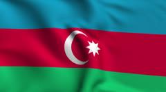 Azerbaijan Weave Textured Flag Loop Stock Footage