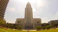 Stock Video Footage of Los Angeles City Hall Building
