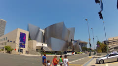 Walt Disney Concert Hall - Downtown Los Angeles Stock Footage